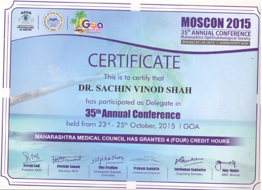 Eye hospital in mulund certificate